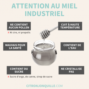 Attention au miel industriel