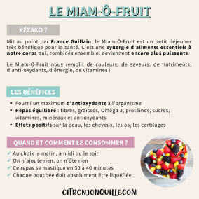 Le miam-ô-fruit
